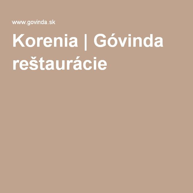 Korenia | Góvinda reštaurácie