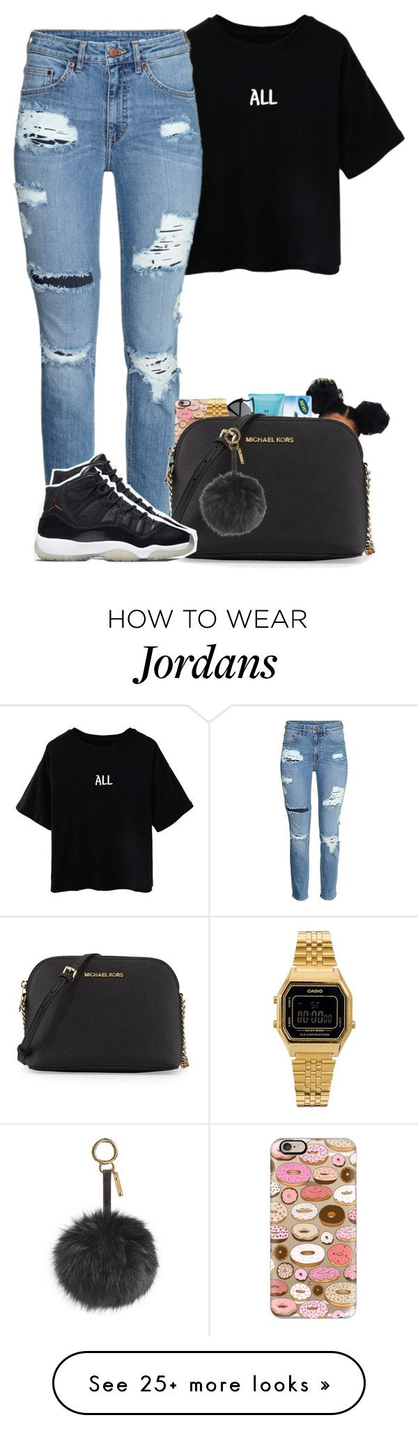 """9:06"" by bryannilove on Polyvore featuring Casetify, Victoria's Secret, Casio, MICHAEL Michael Kors, NIKE and Fendi"