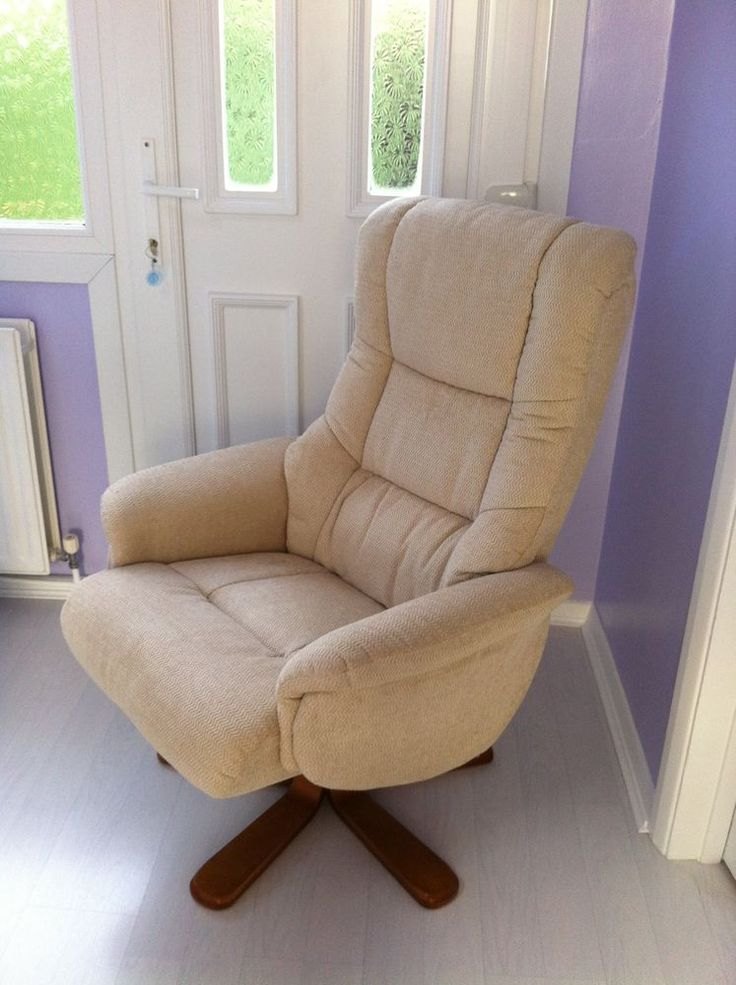 New Luxury Office Recline and Swivel, fabric comfort chair. Supersoft upholstery