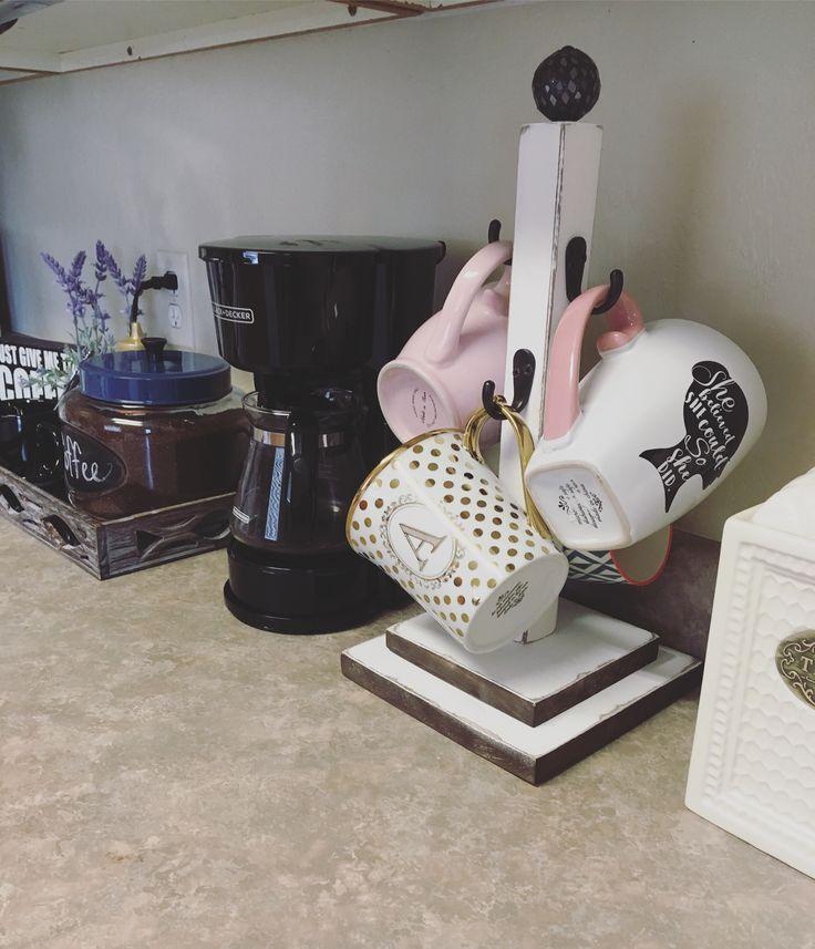 Coffee bar custom coffee coffee mug holder coffee bar