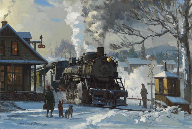 TUTWILER PRINTS Train Train art Railroad art
