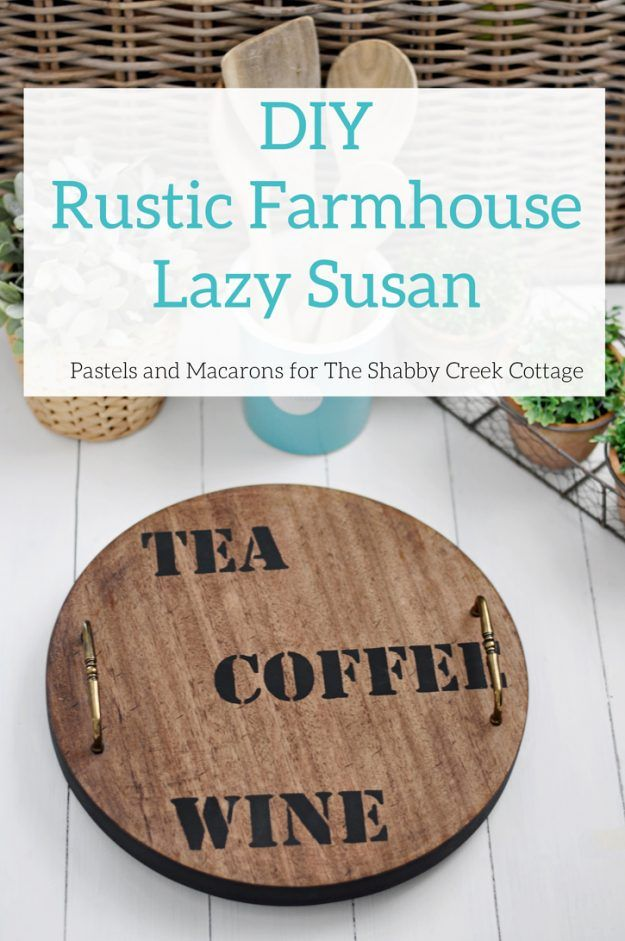 how to make an easy rustic style lazy susan tray great diy upcycle idea