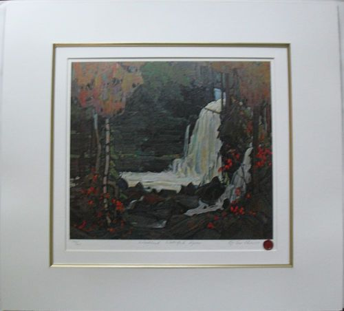 $54.99   Group OF Seven Matted Print Woodland Waterfall Algoma BY TOM Thomson | eBay