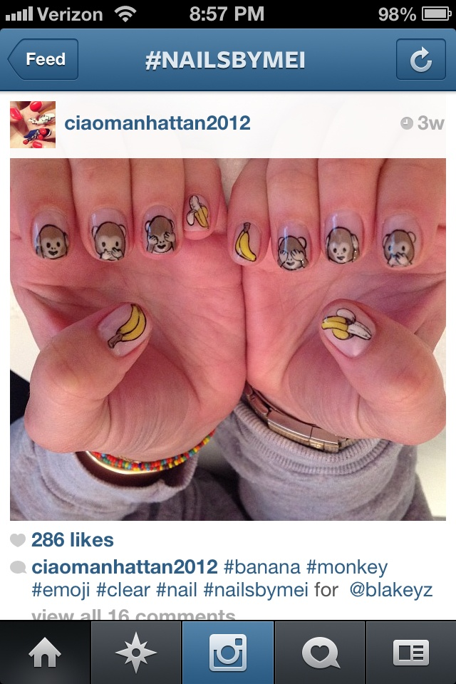 Emoji nails! | Nail Art | Pinterest | Emoji Nails, Monkey Nails and ...