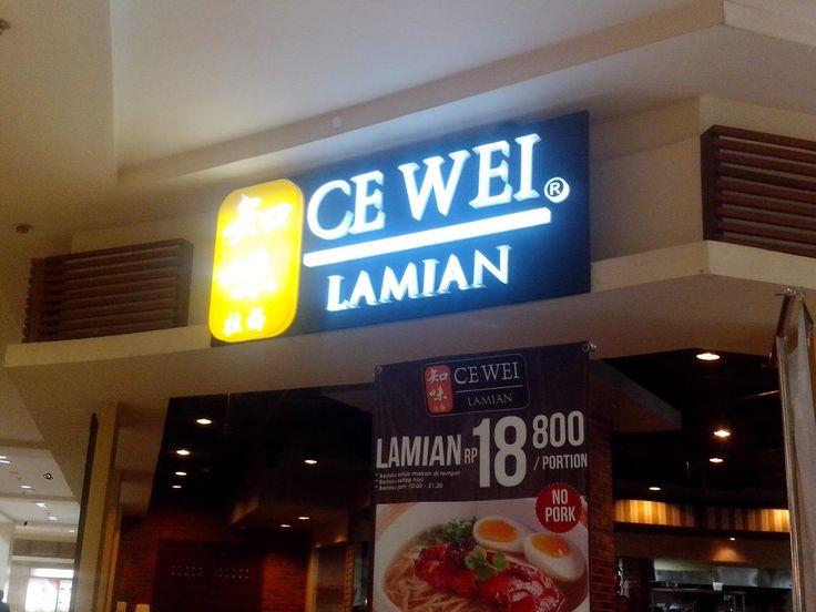 traveling: Ce Wei Lamian Resto mall artha gading