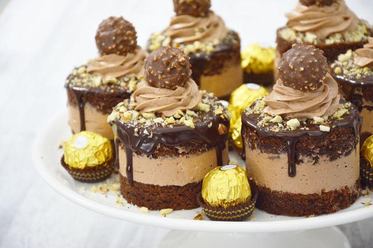 Ferrero Rocher Mini Cakes - YouTube
