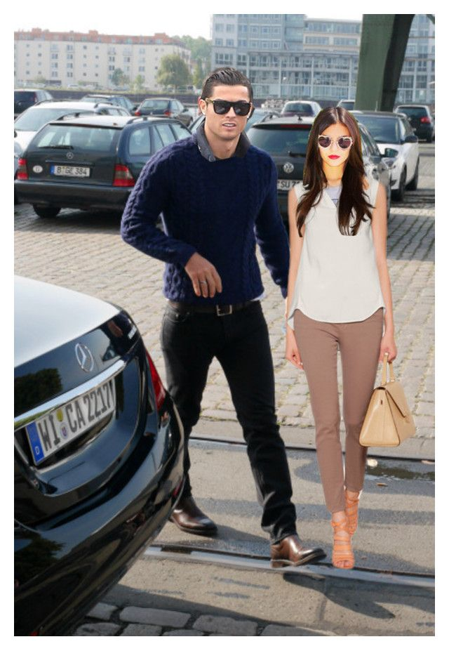 cristiano ronaldo picking up wife princess maria from her office by leofirequeen on Polyvore featuring Brunello Cucinelli