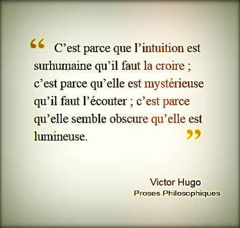 Intuition ou ressenti ou connexion ou empathie...au choix ! !