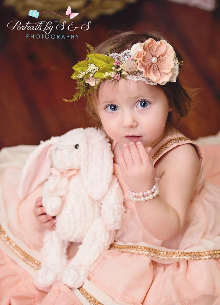 Flower Crown in blush and ivory- Flowergirl hairpiece - Dusty Rose Wedding - Newborn Photo Prop - Wedding Crown - Floral Hairpiece by LittleLadyAccessory on Etsy https://www.etsy.com/listing/220376842/flower-crown-in-blush-and-ivory