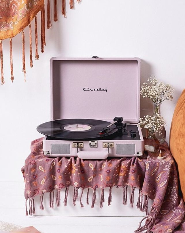 Crosley Cruiser Ice Lilac Bluetooth Vinyl Record Player Vinyl Record Player Record Player Crosley Cruiser