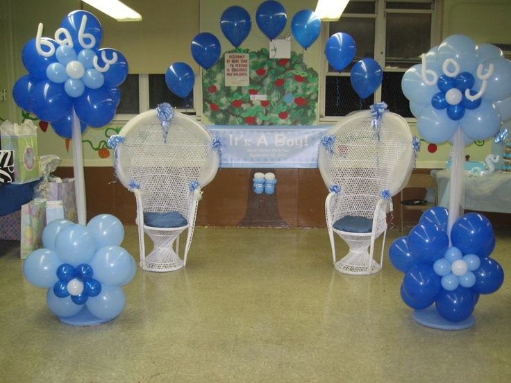 Baby Boy Blue, baby shower decor twins adorable