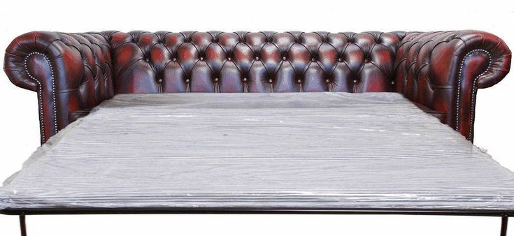 Brand New Chesterfield 3 Seater Sofa Bed Antique Oxblood Leather Sofa Settee | eBay