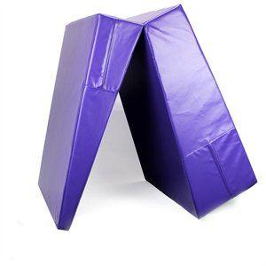 Purple Folding Incline Gymnastics Mat Training Foam Triangle Tumbling Wedge 1 of 12