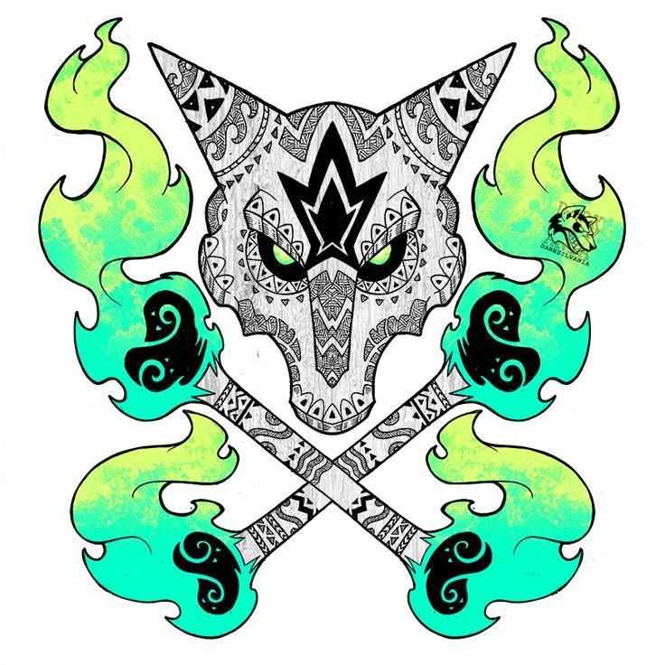 Tribal Alolan Marowak by Darksilvania.deviantart.com on @DeviantArt