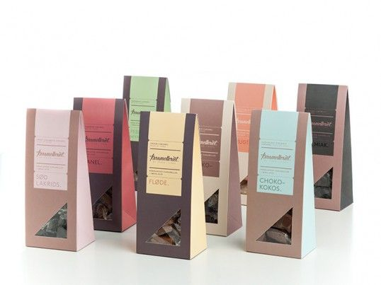 great use of color and gorgeous type mix.  Karamelleriet branding and packaging by Bessermachen design studio