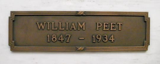 William Peet - Co-Founder of the Peet Brothers soap manufacturing company, which later became the Colgate-Palmolive Company.