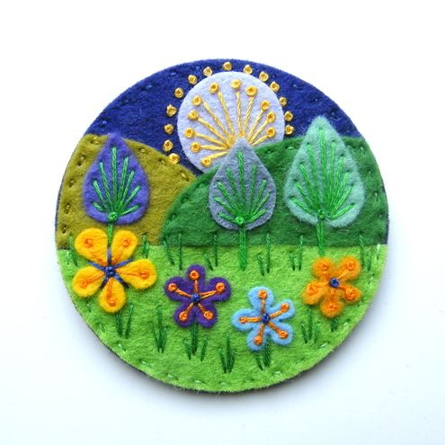 17 Best Images About Felt Flores On Pinterest  Brooches