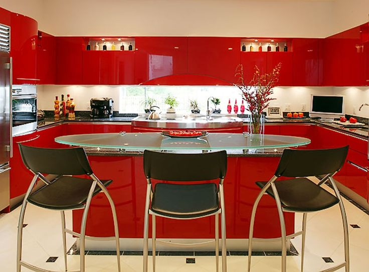 Red Orange Kitchen 41 best kitchens images on pinterest | dream kitchens, red kitchen