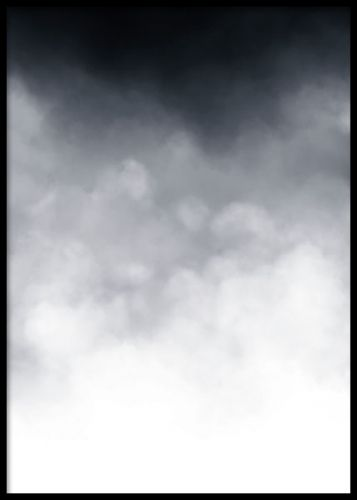 Art print of clouds in a lovely gradiant. The perfect element of a picture wall, mix your favourite art prints on one wall. In our web shop you can find more lovely black and white art posters. Desenio.co.uk