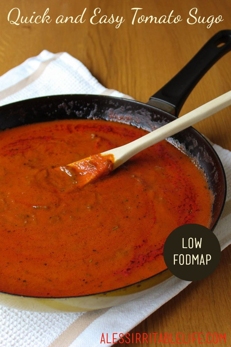 Quick and Easy Tomato Sugo (low FODMAP, gluten-free, dairy-free, nut-free) – A Less Irritable Life