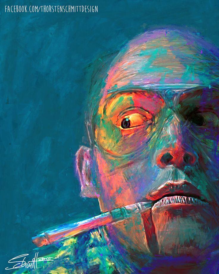 Johnny Depp Fear and Loathing in Las Vegas Hunter S. Thompson Thorsten Schmitt Design Einhausen fine art print poster digital painting digital art kunst kunstgeschichte Illustration Illustrator Artist Porträt Portrait