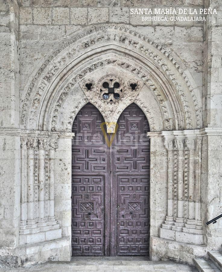 Portada protógita. Iglesia de Santa María de la Peña. Brihuega, #Guadalajara
