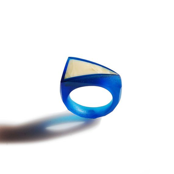 Navy Blue FRAME Ring / size US 7