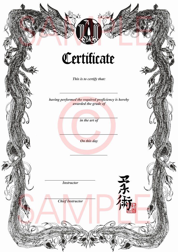 Taekwondo Certificate Templates For Trainers Students Inspiring Designs Template Sumo Certificate Templates Certificate Art Certificate