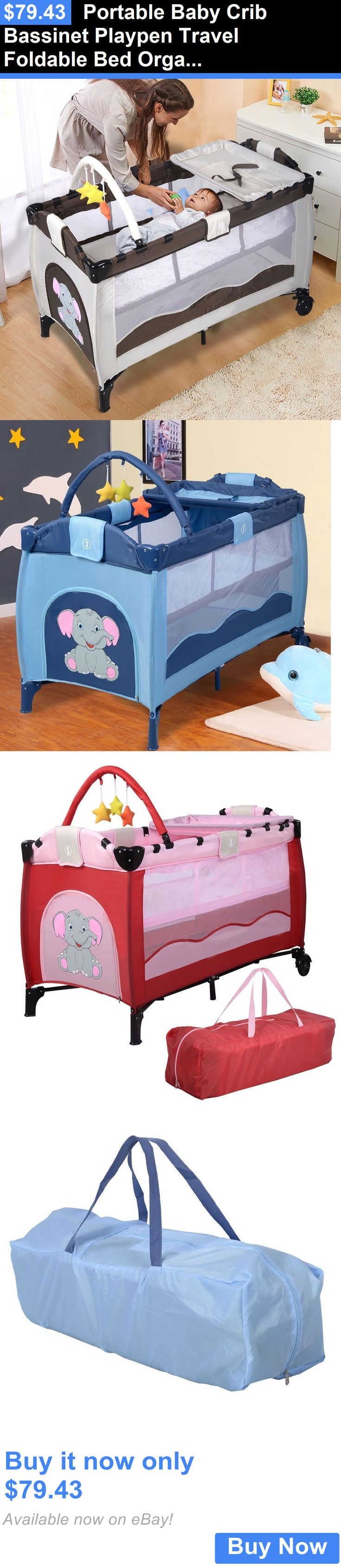 Baby cribs queens ny - Baby Nursery Portable Baby Crib Bassinet Playpen Travel Foldable Bed Organizer Convertible Buy It Now