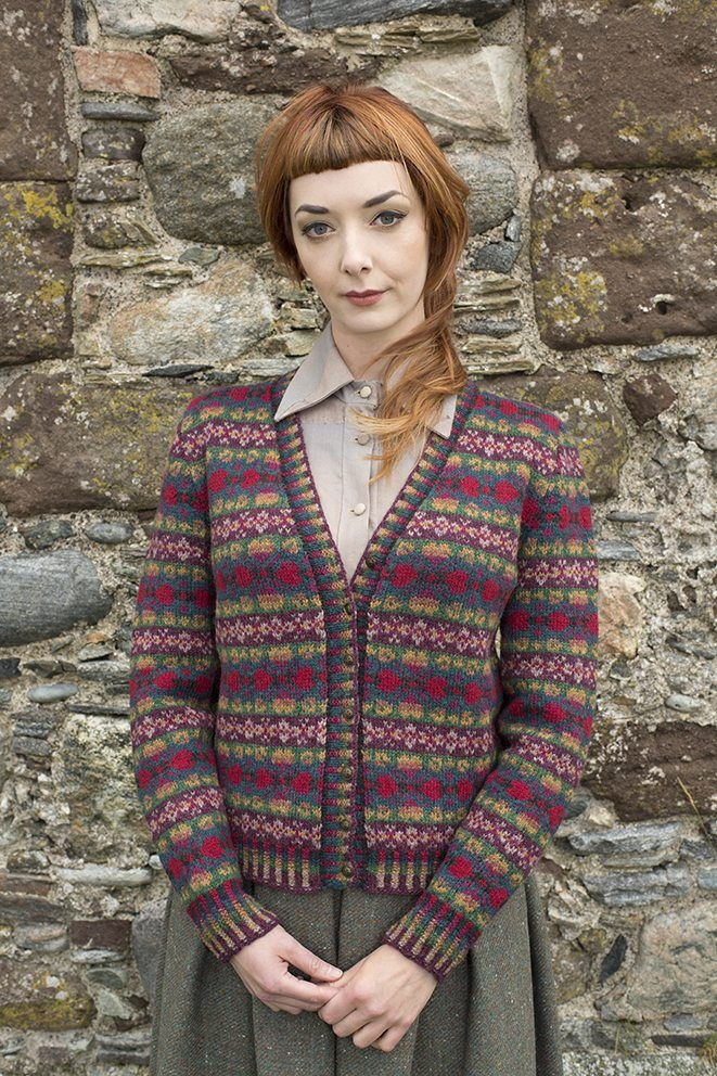 87c65e94319f Maud cardigan patterncard kit by Alice Starmore in Hebridean 2 Ply pure  British wool hand knitting yarn