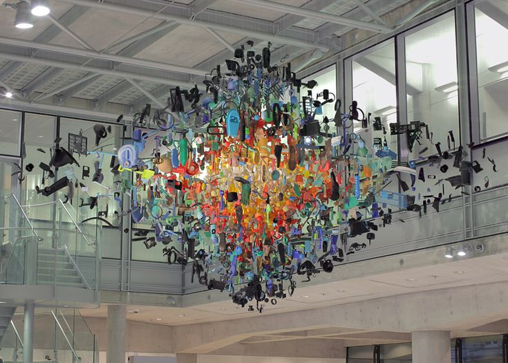 Strand installation by Stuart Haygarth at Macmillan Cancer Centre