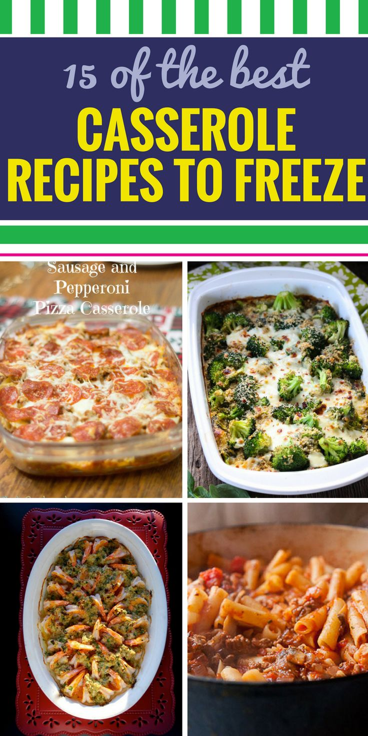 Best 25 meals to freeze ideas on pinterest freezable meals 15 casserole recipes to freeze chicken recipes to freezehealthy meals forumfinder Gallery