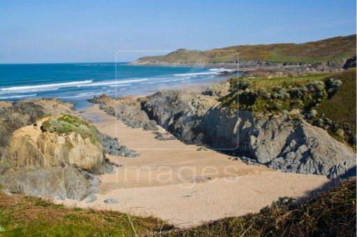 This is the shell beach, known as the Barricane Beach, at Woolacombe