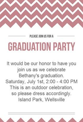 62 best Graduation Party Invitation Templates images on Pinterest ...