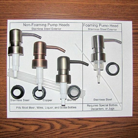 """DIY Glass Bottle Soap Dispenser Pump Kit – Fits Many 1"""" Bottle Neck Tops - Vintage Bottles, Ceramic Jugs, Beer, Wine, and Soda Bottles"""