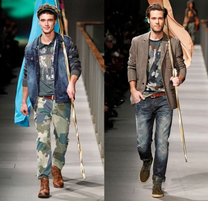 Top 10 Men's Fashion Trends in 2015 ... desigual-spain-080-barcelona-2014-2015-fall-autumn-winter-fashion-mens-runway-why-denim-jeans-camouflage-vest-blazer-bomber-jacket-flamingo-graffiti-01x └▶ └▶ http://www.topteny.com/top-10-mens-fashion-trends-in-2015/