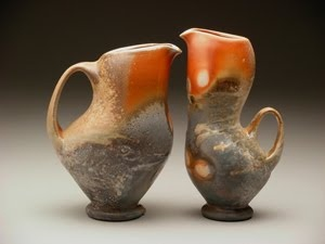Tara Wilson knows how to manipulate porcelain... and I'm in love with the shino glaze.