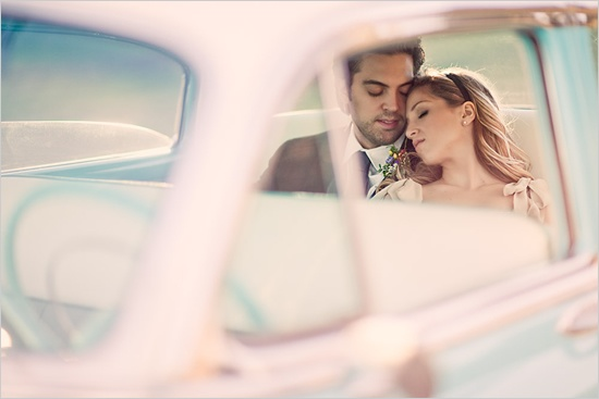 Think of this photo on your wedding with the vintage bug car