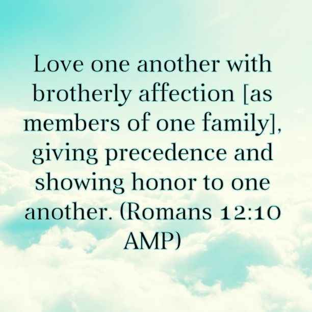 Love. The foolproof weapon for defeating the enemy. Love is one thing that's impossible for satan and his army to posses. Love conquers all! Bible Verse: Romans 12:10
