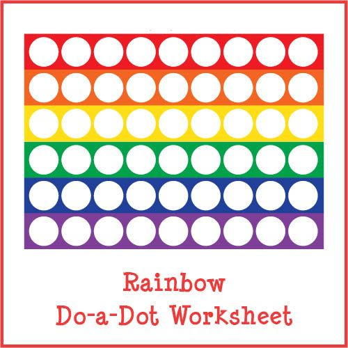 Rainbow Do-a-Dot Worksheet store product image