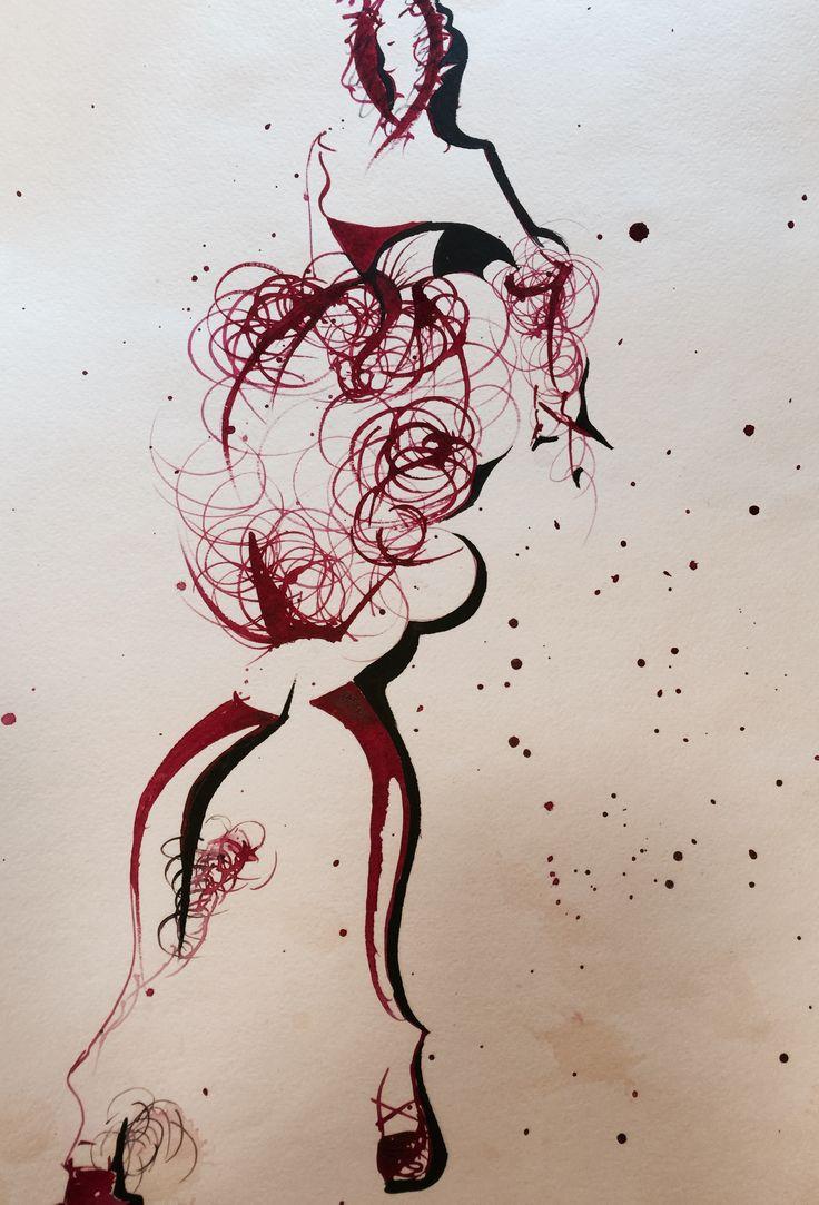 Fashion illustration , sketchbook