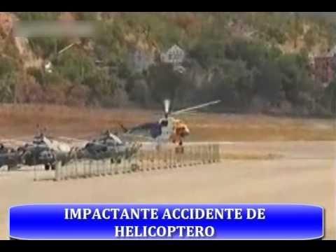 Impresionante Accidente de  helicóptero en rusia