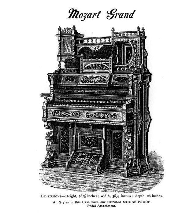 Dominion 1891 - 1M Reed Organ. Mozart Grand