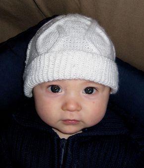 Explications du Bonnet bébé à torsades