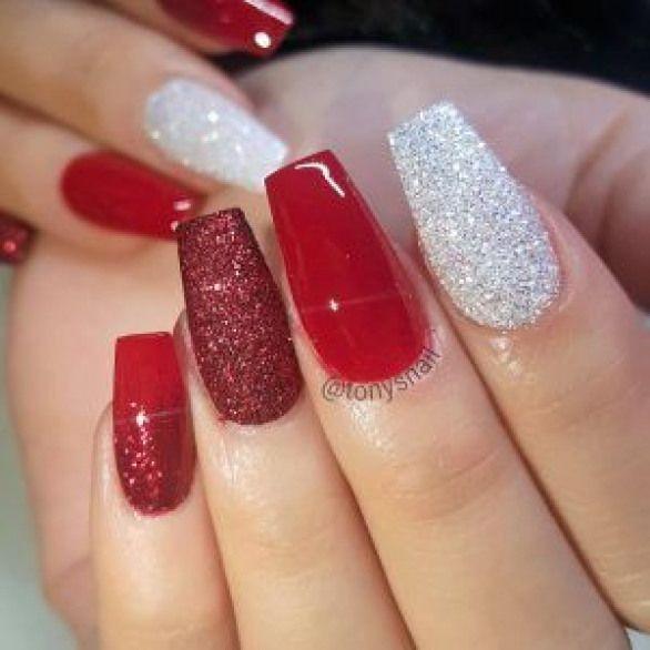 Christmas Nails Glitter #nailpolish #nail #polish #ombre ...