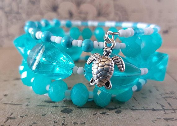 Check out this item in my Etsy shop https://www.etsy.com/au/listing/552069837/blue-ocean-bracelet