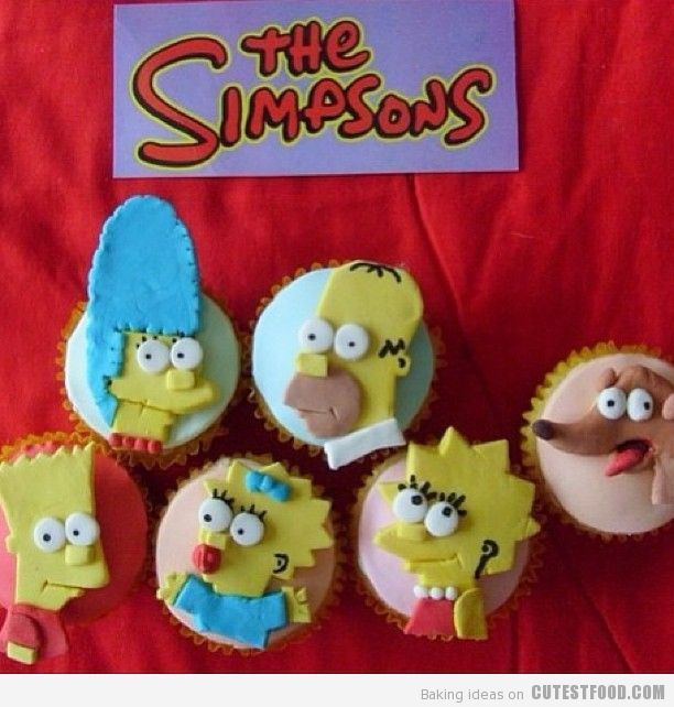 The Simpsons. View more at Suburban Fandom's Fan Cakes board http://pinterest.com/SuburbanFandom/fan-cakes/