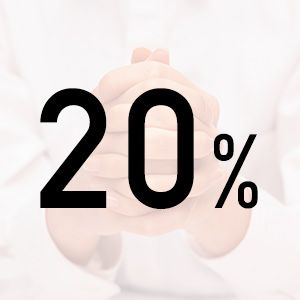 omkring 20%!