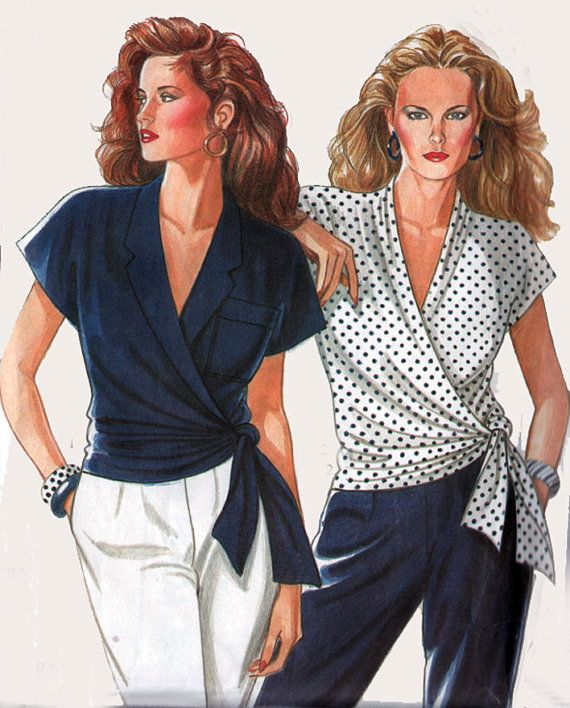 Vintage 80s Sewing Pattern New Look 6081 WRAP by sandritocat, $10.00