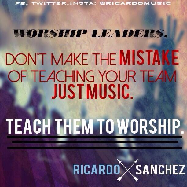 worship leader resume